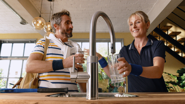 Quooker boiling and filtered water tap in Guernsey