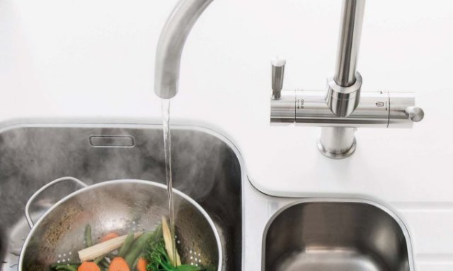 Franke Omni Boiling Tap Cooking Vegetables